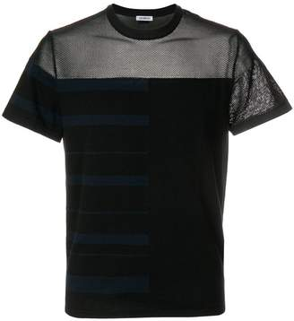 Dirk Bikkembergs sheer panelled T-shirt