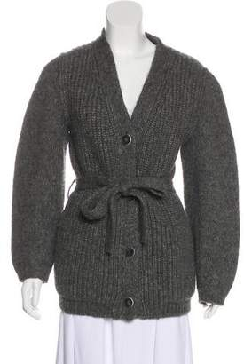 Fendi Knit Long Sleeve Cardigan