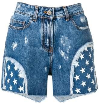 Faith Connexion star print denim shorts