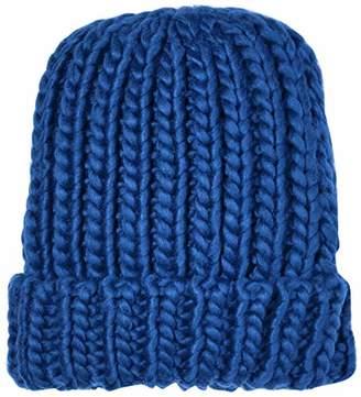 Under Zero Women Chunky Acrylic Knit Rib Beanie Hat