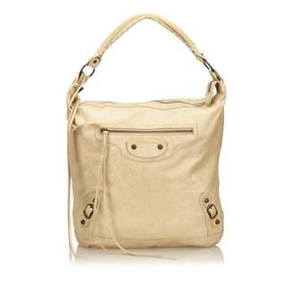 Balenciaga Day White Leather Handbag