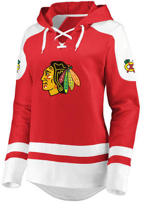 Majestic Women Chicago Blackhawks Centre Lace up Crew Sweatshirt