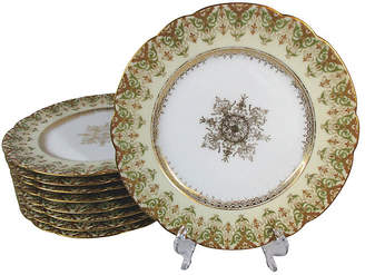 One Kings Lane Vintage Limoges Luncheon Plates - Set of 8 - Stucco Mansion Antiques