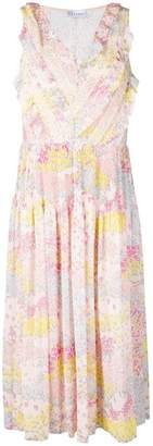 RED Valentino floral pattern plisse dress