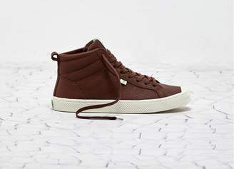Cariuma OCA High Red Brown Premium Leather Women
