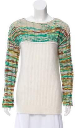 3.1 Phillip Lim Patterned Rib Knit Sweater