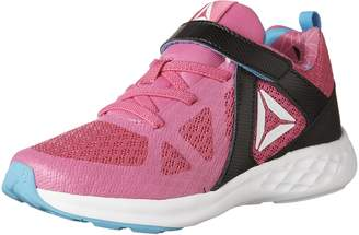 Reebok Kid's Girl's Smooth Glide Running Shoes, Charged Pink/Black/California Blue/White