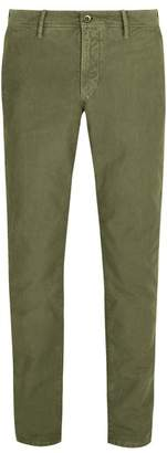 Incotex Slim Leg Cotton Chino Trousers - Mens - Green