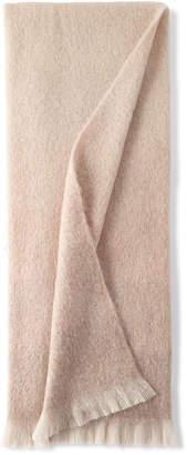 Michael Aram Dip Dyed Mohair Throw Blanket, Blush