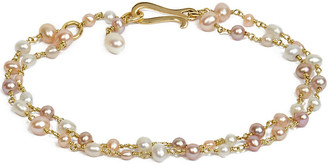 Annoushka Seed Pearl 18ct yellow-gold and pearl bracelet, yellow