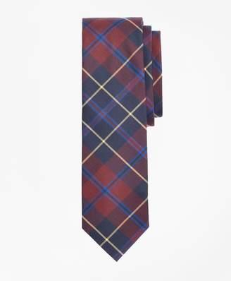 Brooks Brothers Check Cotton Slim Tie
