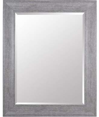 Gallery Solutions Large 39x49 Beveled Wall Mirror with Grey Wash Frame