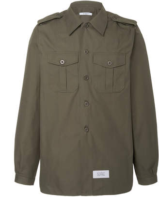 1523c2d8e147b Givenchy Cotton And Linen Twill Military Shirt