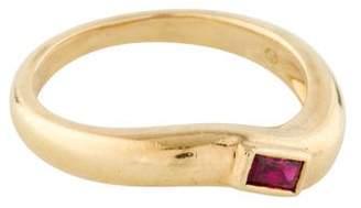 Ring 18K Single Ruby Band