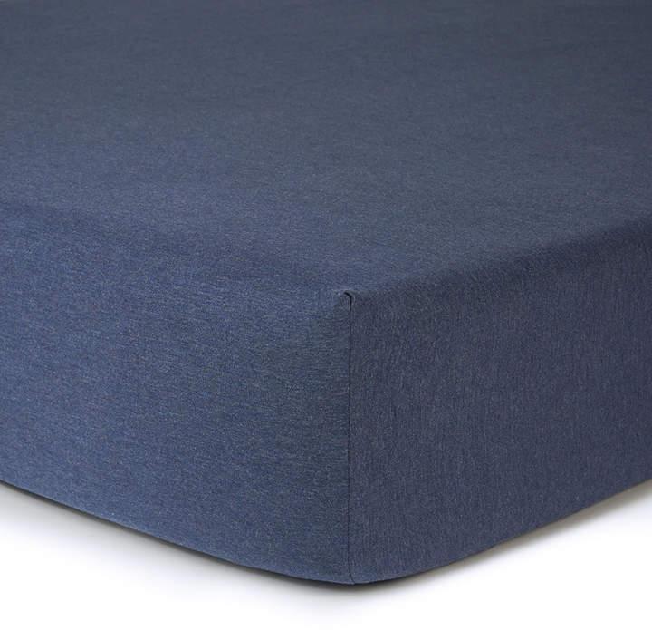 Modern Cotton Body Fitted Sheet - Indigo - King