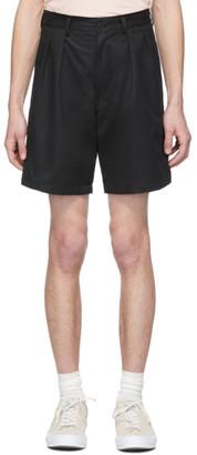 paa Black Double Pleat Shorts