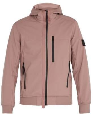 Stone Island Soft Shell R Waterproof Hooded Jacket - Mens - Light Pink