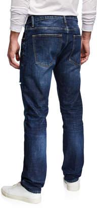 Vigoss Men's Lennon 341 Straight-Leg Dark-Blue Denim