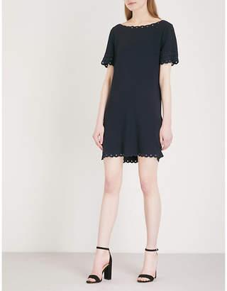 Claudie Pierlot Scalloped-trims crepe mini dress