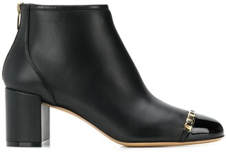 Salvatore Ferragamo Vara Chain Detail Booties