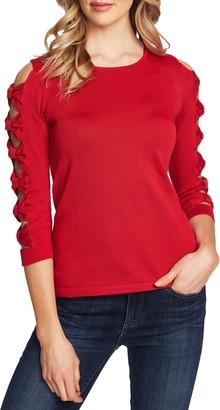 CeCe Bow Sleeve Crewneck Sweater