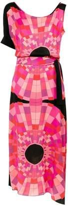 DAY Birger et Mikkelsen Amir Slama asymmetric printed dress