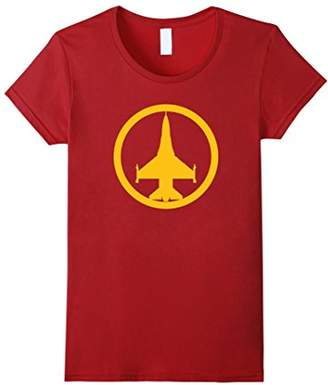 F-16 Falcon (Yellow) Air Force Military Jet T-Shirt