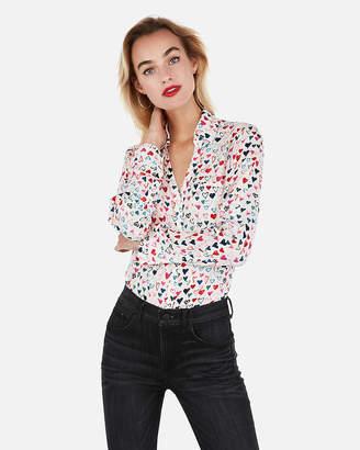 713e8f37004f8 Express Slim Fit Heart Print Portofino Shirt