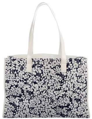 Burberry Floral Canvas Tote