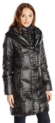 T Tahari Women's Gia Chevron Down Coat