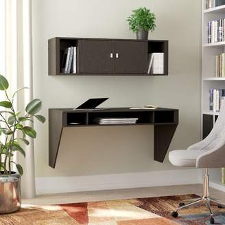 Zipcode Design Dowlen Floating Desk with Hutch