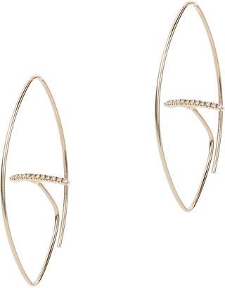 Intermix Hirotaka Floating Diamond Bar Oval Earrings