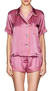 Araks Women's Shelby Silk Charmeuse Pajama Top-Rose