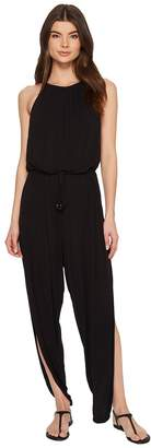 Laundry by Shelli Segal High Neck Drape Jumpsuit Cover-Up Women's Jumpsuit & Rompers One Piece