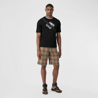 Burberry Check Merino Wool Drawcord Shorts