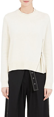 Proenza Schouler Women's Side-Zip Wool-Silk-Cashmere Sweater $775 thestylecure.com