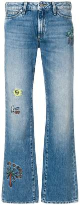 Mira Mikati embroidered detail bootcut jeans