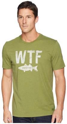 Life is Good WTF Fish Crusher Tee Men's T Shirt