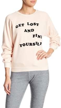 Wildfox Couture Get Lost Junior Sweatshirt