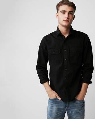 Express Slim Herringbone Military Overshirt