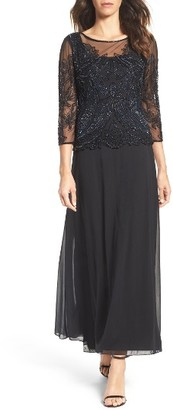 Women's Pisarro Nights Embellished Mesh Gown $208 thestylecure.com