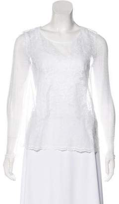 The Kooples Sheer Long Sleeve Top w/ Tags
