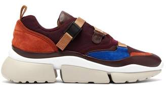 Chloé - Sonnie Raised Sole Low Top Trainers - Womens - Burgundy