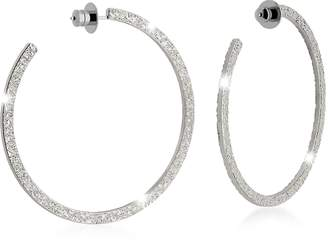 Rebecca R-ZERO Rhodium Over Bronze Hoop Earrings