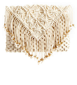 Shiraleah Macrame Beaded Clutch