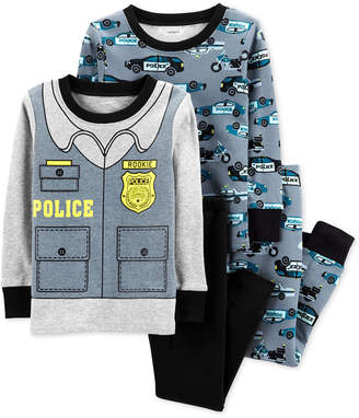 Carter's Baby Boys 4-Pc. Police Cotton Pajama Set