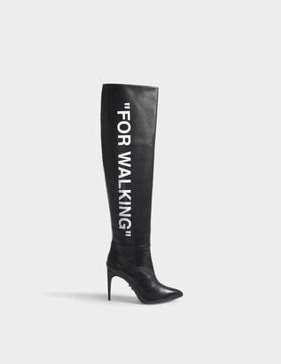 Off-White OFF WHITE For Walking Long Boots in Black Nappa Leather