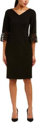 Lafayette 148 New York Lace-Cuff Sheath Dress