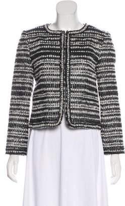 Alice + Olivia Metallic-Accented Knit Jacket