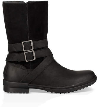6821868ff84 UGG Black Lined Leather Boots For Women - ShopStyle UK